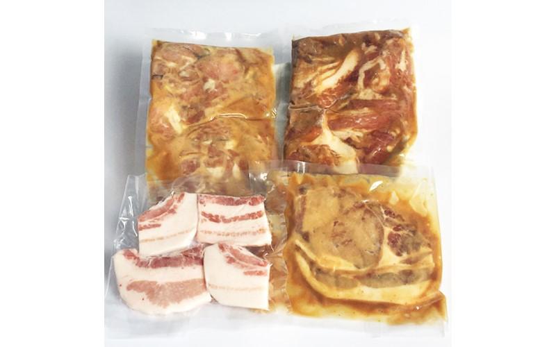 鹿児島県産赤鶏と黒豚のセット