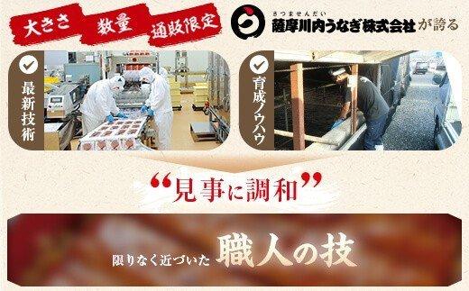 鹿児島県産うなぎ蒲焼 カット 約150g <薩摩川内鰻>