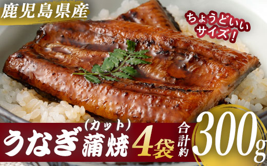 鹿児島県産うなぎ蒲焼 カット 約300g <薩摩川内鰻>