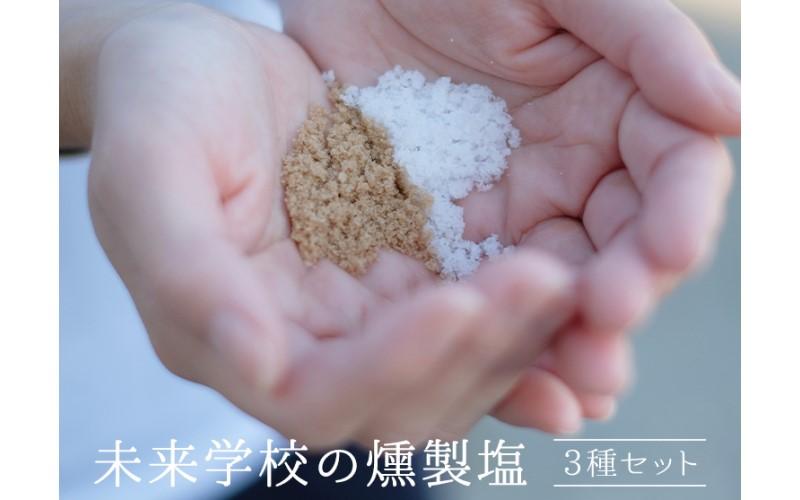 高江未来学校 燻製塩 3種セット(桜・ヒノキ・ヒッコリー) <オフィスHIGASHI>