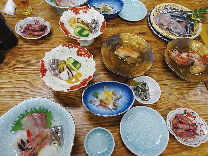 石原荘夕食