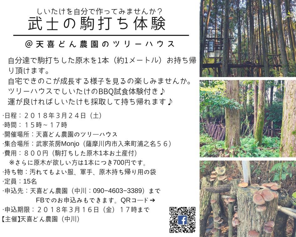 武士の駒打ち体験参加者募集中!!